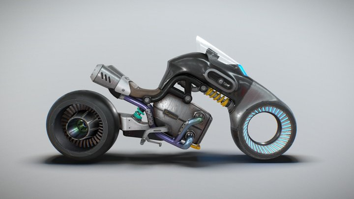 """""""Superpower"""" Motorcycle Concept 3D Model"""