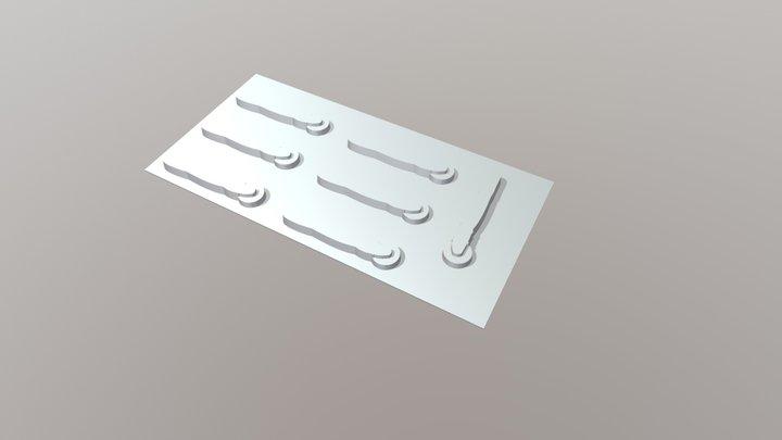 Molde General Thermoforming Rollerknife 3D Model