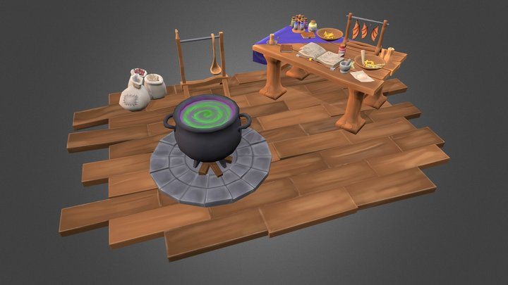 Witchcraft 3D Model
