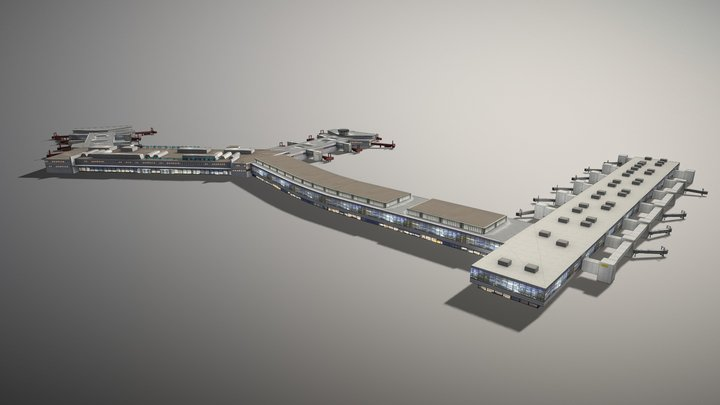 Terminal ESSA Stockholm Arlanda Airport 3D Model