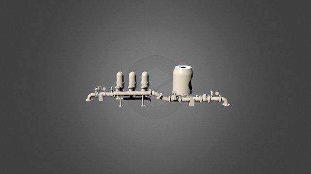 Cabezal Riego 3D Model