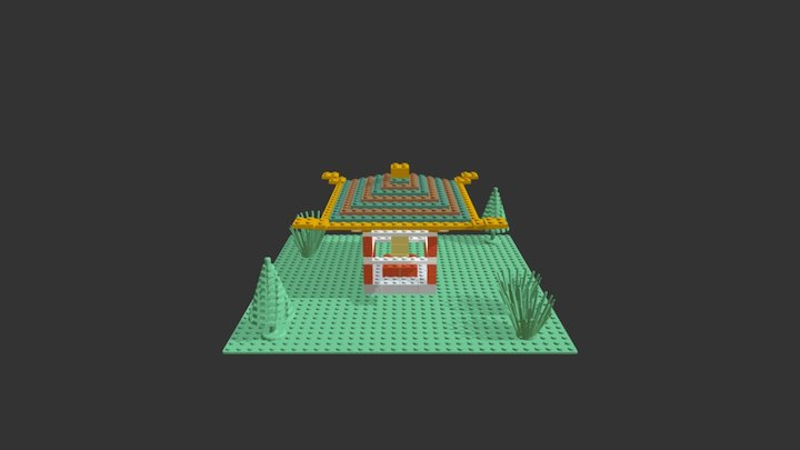 Lego Chinese Building 1 3D Model