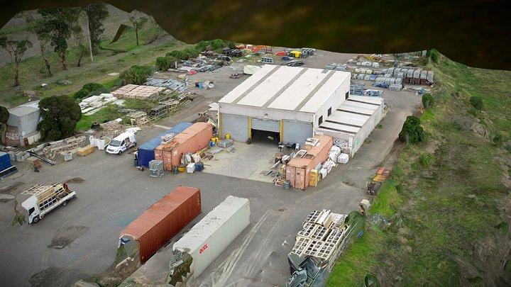 Construction Storage Building 3D Model