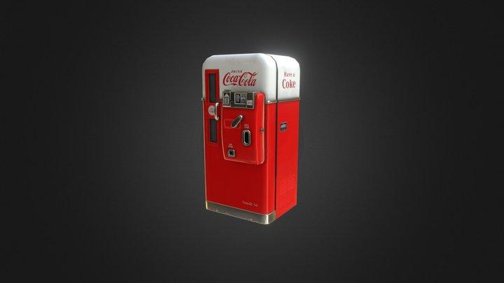 Vintage soda machine 3D Model