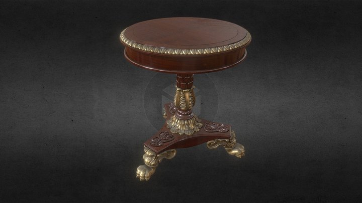 Old Coffe Table 3D Model