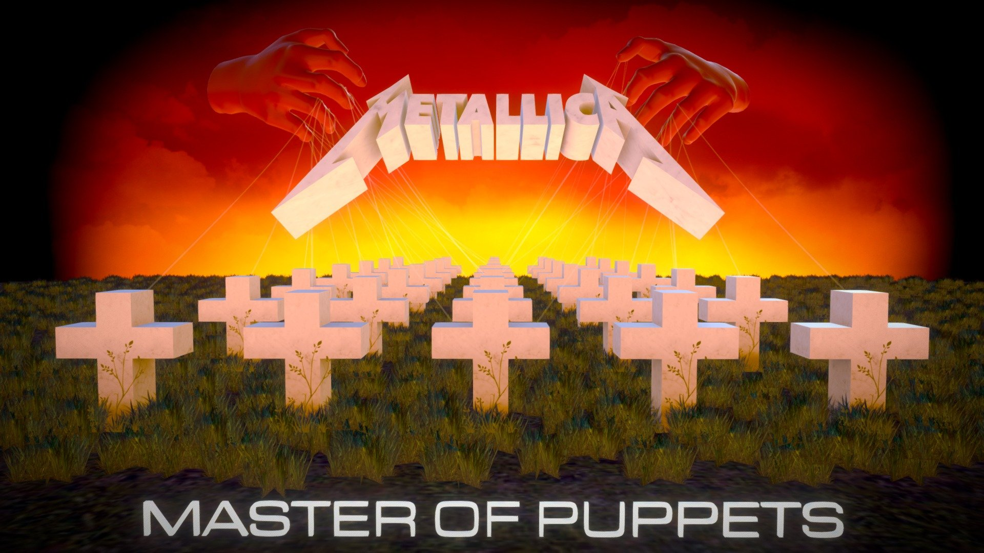 Metallica Master Of Puppets Album Cover 3d Model By