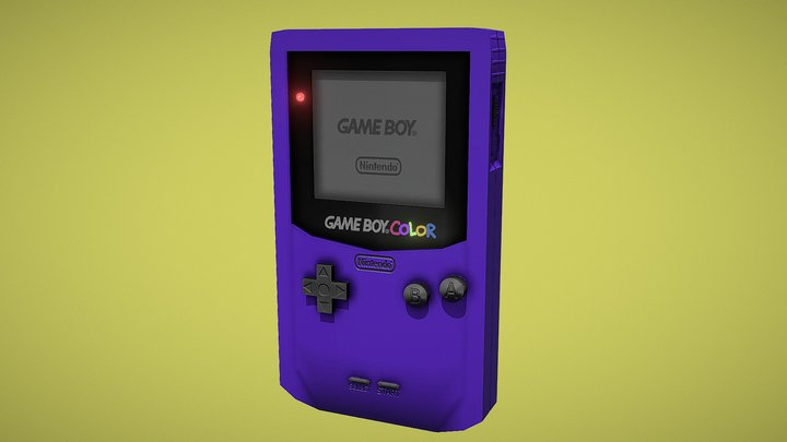 OBJECTS AND PROPS: GAMEBOY COLOR (REALISTIC) 3D Model