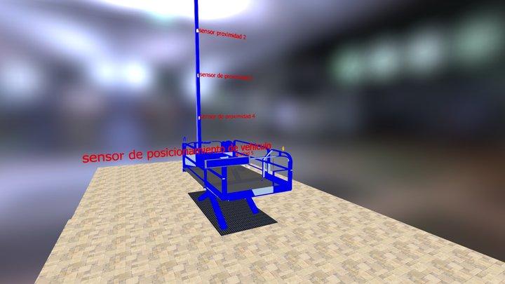 ascensor carros 3D Model