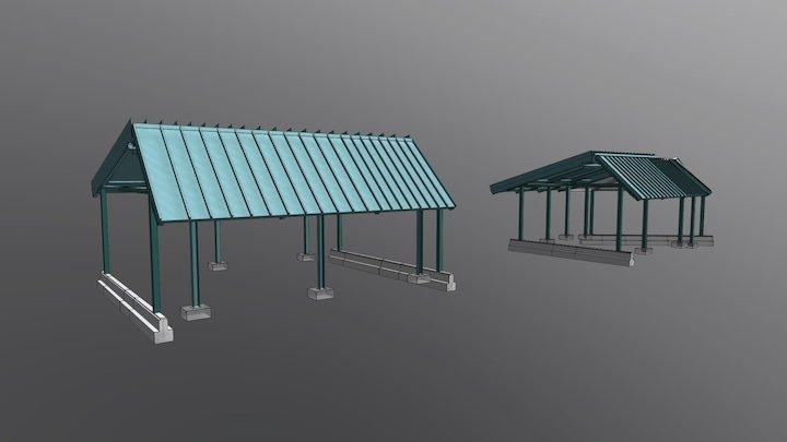 Sistema estructural PREFUP Structural system 3D Model