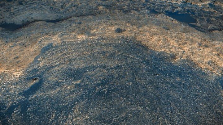 Mars / Gale Crater / Vera Rubin Ridge [ 2km ] 3D Model