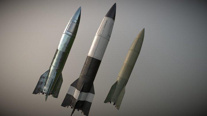 A4 (V-2) Rocket - 1940s 3D Model