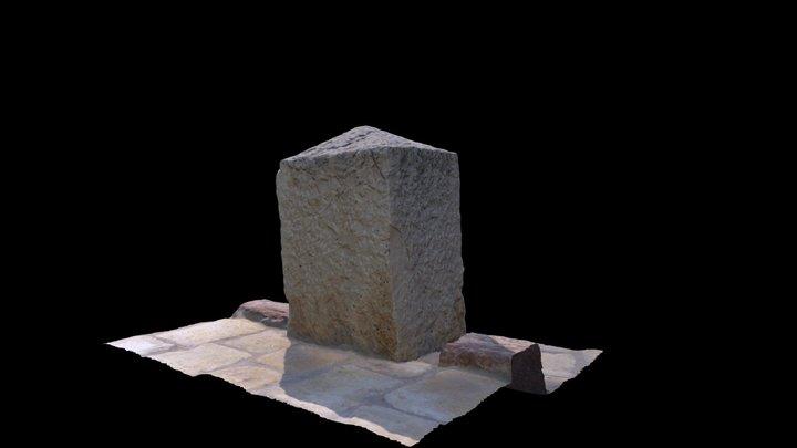 Monolito de la Fuente de la Peña. Aspe.1868 3D Model