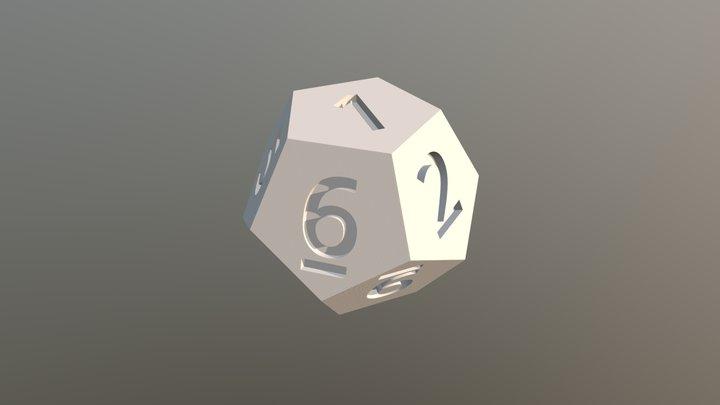 Dado 12 Lados Inset 3D Model
