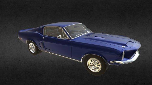 Shelby Gt 500 KR 69 3D Model