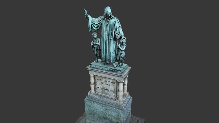 Denkmal August Hermann Francke 3D Model