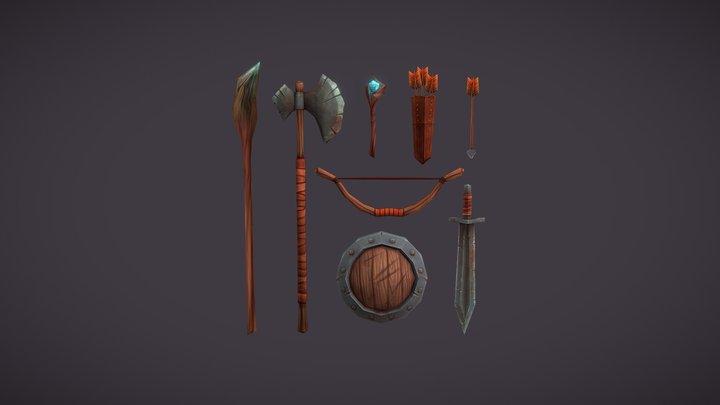 Fantasy weapon 3D Model