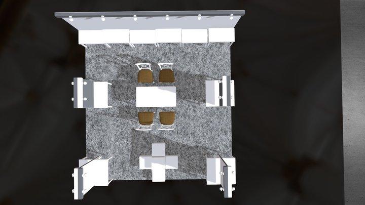 New Hong Kong Booth Design 2018 3D Model