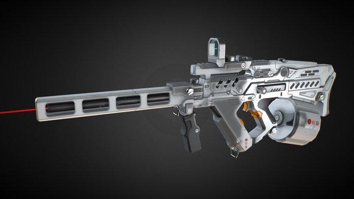 Machinegun 3D Model