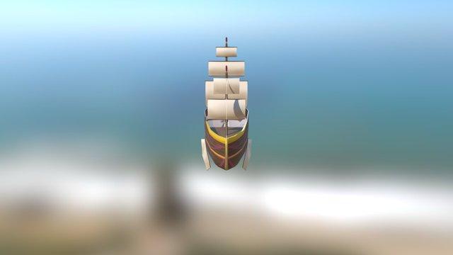 Arcane Pirate Airship 3D Model