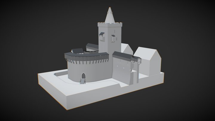 Johannistor der Jenaer Stadtbefestigung um 1540 3D Model