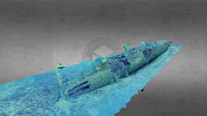 J5 WWI-era Submarine 3D Model