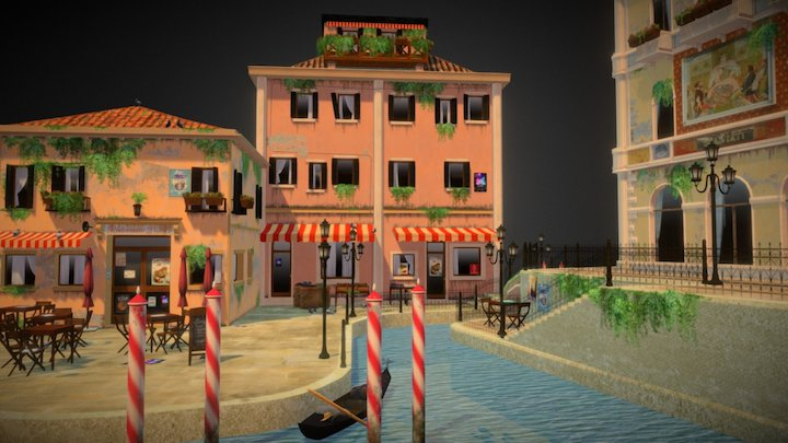 CityScene Venice 3D Model