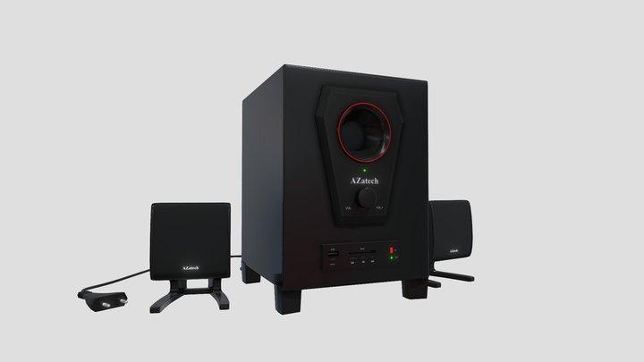 Azatech Speaker System 3D Model