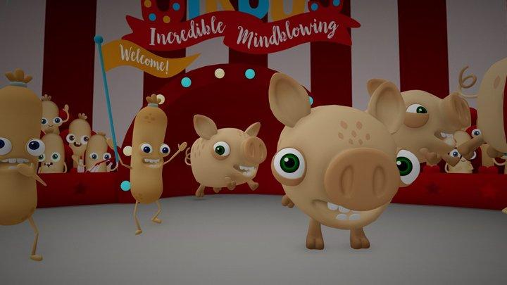 Dave's Incredible Mindblowing Snausage Circus 3D Model