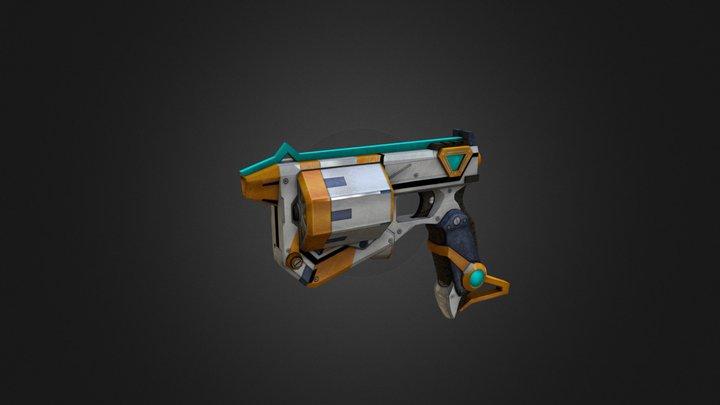 Low Poly Gun 3D Model