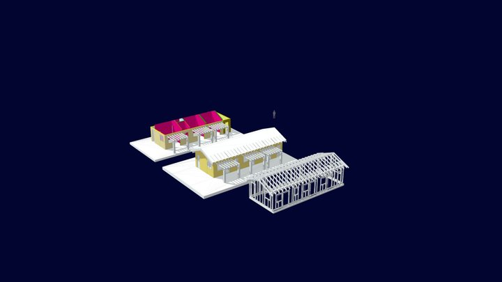 Manciano Timber Frame 3D Model