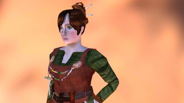 Medieval Viking Tailor (Animation test) 3D Model