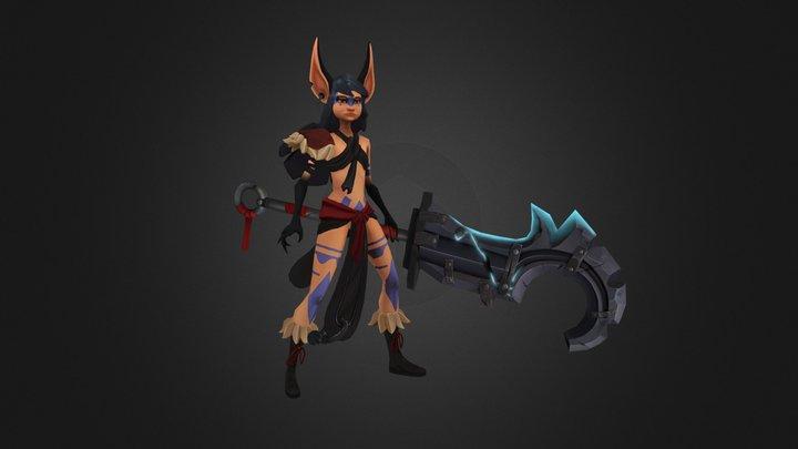 Fennic Warrior 3D Model