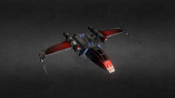 Sorosuub Preybird Heavy Assault Fighter 3D Model