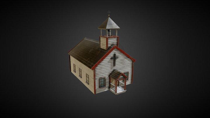 Wild West Stylized church 3D Model