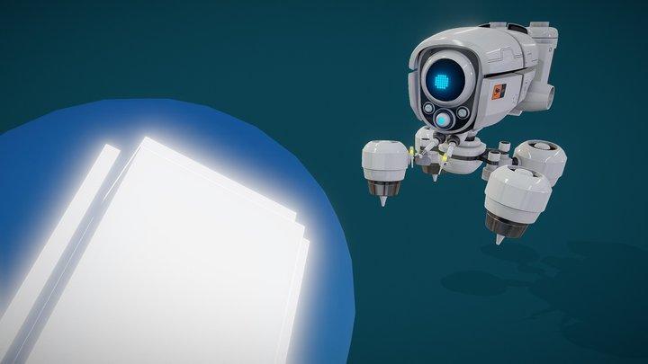 oBot - Cute Robot Challenge 3D Model