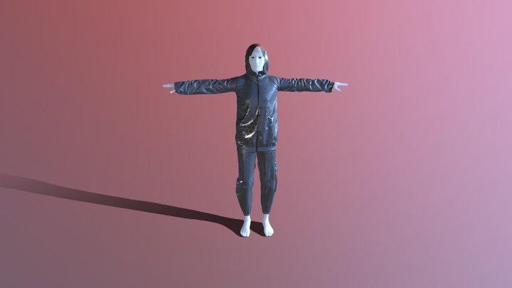 Futuristic Clothes -.Man T Posed 3D Model