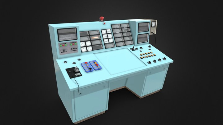 Old Control Pannel 3D Model