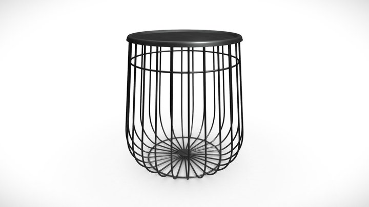 Wire End Table 3D Model