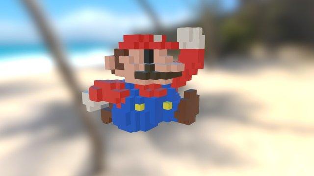 Pixel Mario 3D Model