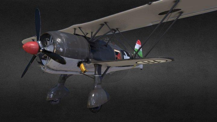 """Fiat CR.42 """" Falco"""" - Italian Biplane Fighter 3D Model"""