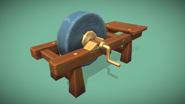 Grindstone - Hand Painted 3D Model