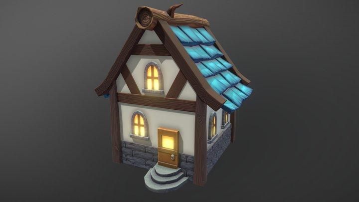 Stylized House Test 3D Model
