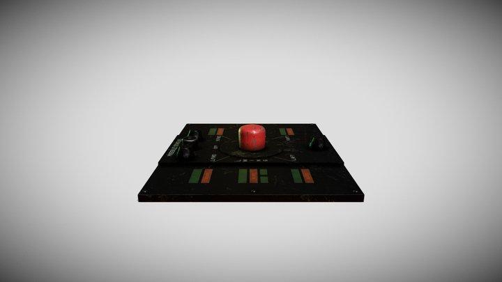 Sci-fi Missile Control 3D Model