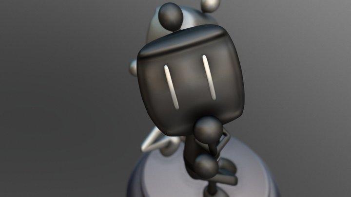Bomberman Fan Art 3D Model