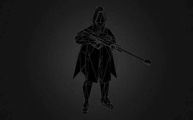 Helghast Sniper 3D Model