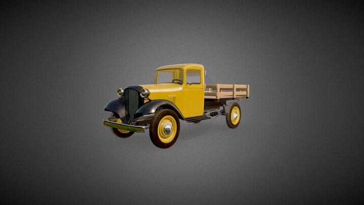 1930s Chevy Pickup Truck 3D Model