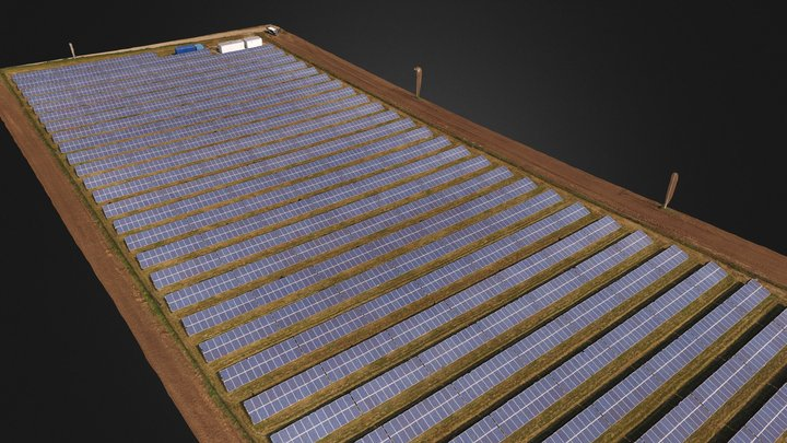Solar plant aerial survey and inspection 3D Model