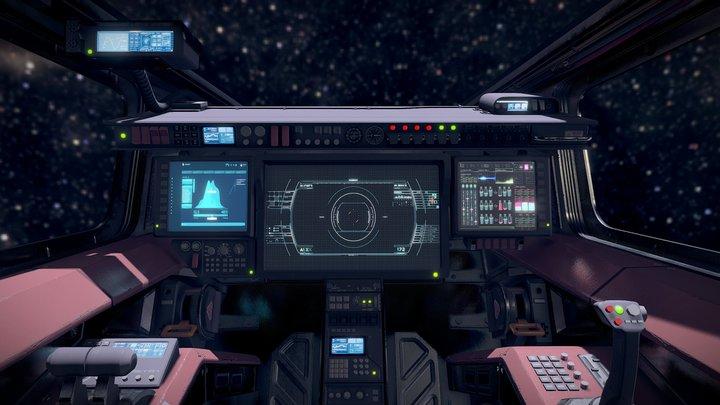 Sci Fi Fighter Cockpit 5 3D Model