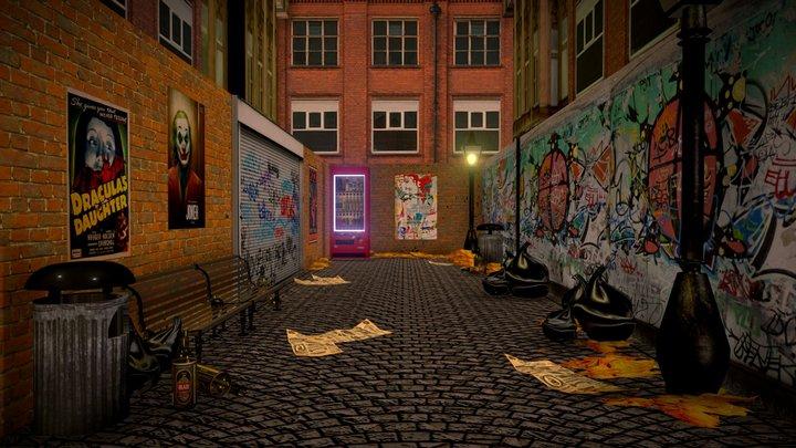 Street Exterior Dead End 3D Model