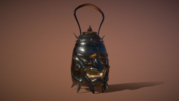 The Oni in the Kettle - Artstation Challenge 3D Model